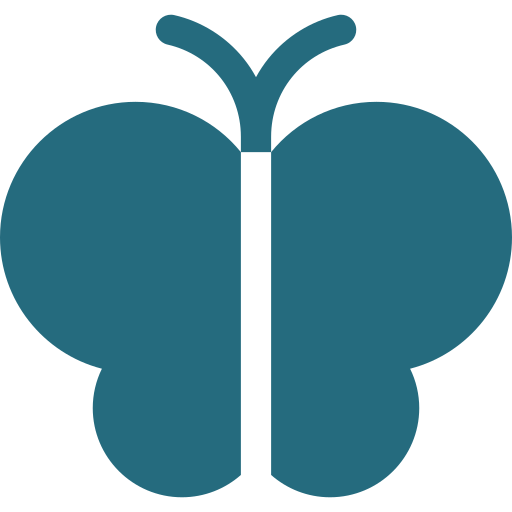 An icon depicting a butterfly
